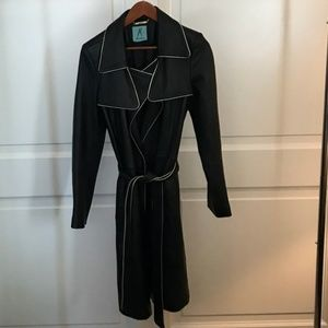 Marciano Jackets & Coats - Marciano Leather Jacket Black Guess Trench Coat M